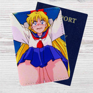 Sailor Moon Sexy Custom Leather Passport Wallet Case Cover