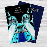 Sans Undertale Custom Leather Passport Wallet Case Cover