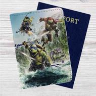 Teenage Mutant Ninja Turtles Fight Custom Leather Passport Wallet Case Cover