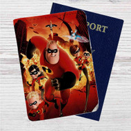 The Incredibles Custom Leather Passport Wallet Case Cover