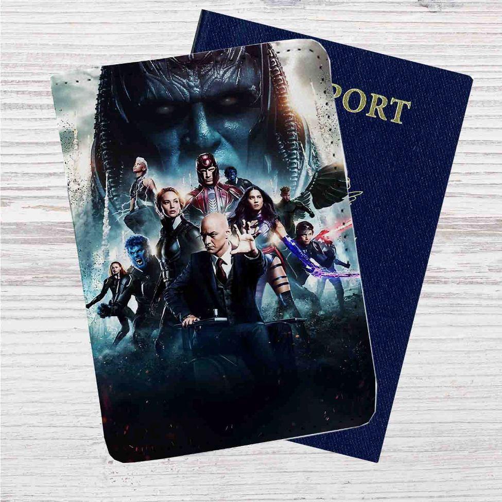 1c6a8b42d89d X Men Apocalypse Movie Custom Leather Passport Wallet Case Cover