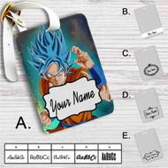 Super Saiyan Blue Goku Dragon Ball Super Custom Leather Luggage Tag
