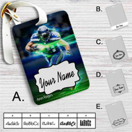 Aaron Rodgers Custom Leather Luggage Tag