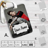 Adam Lambert Tattoo Custom Leather Luggage Tag