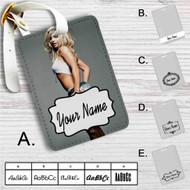 Britney Spears Custom Leather Luggage Tag