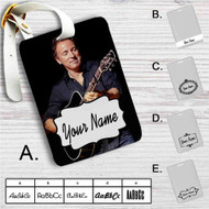 Bruce Springsteen Custom Leather Luggage Tag