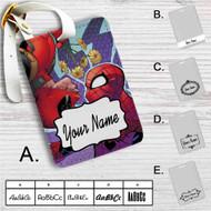 Deadpool Spiderman Custom Leather Luggage Tag
