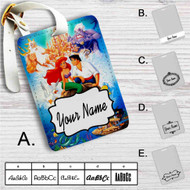 Disney Ariel The Little Mermaid and Prince Custom Leather Luggage Tag