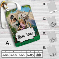 Disney Tangled Rapunzel Flynn and Maximus Custom Leather Luggage Tag