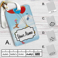 Disney Winnie The Pooh Balloons and Friends Custom Leather Luggage Tag