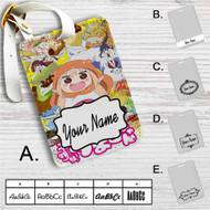 Himouto Umaru-chan Happy Face Custom Leather Luggage Tag