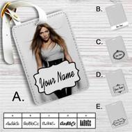 Jennifer Lopez Custom Leather Luggage Tag