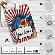Kamina Gurren Lagann Custom Leather Luggage Tag