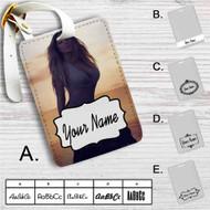 Mariah Carey Cover Custom Leather Luggage Tag