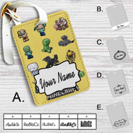 Minecraft Chibi Characters Custom Leather Luggage Tag