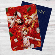 Chihayafuru Custom Leather Passport Wallet Case Cover