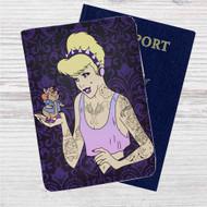 Cinderella Gothic Disney Custom Leather Passport Wallet Case Cover