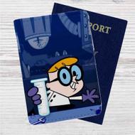 Dexter's Laboratory Custom Leather Passport Wallet Case Cover