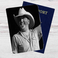 Jason Aldean Custom Leather Passport Wallet Case Cover
