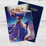 King Arthur Fate Stay Night Custom Leather Passport Wallet Case Cover