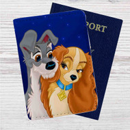 Lady and the Tramp Love Disney Custom Leather Passport Wallet Case Cover