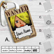 Sanji One Piece Wanted Custom Leather Luggage Tag