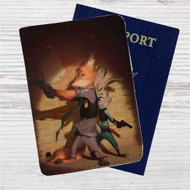 Nick Wilde and Judy Hopps Zootopia Custom Leather Passport Wallet Case Cover