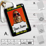 Stevie Wonder Hatter Than July Custom Leather Luggage Tag