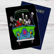 Scooby Doo Skull Custom Leather Passport Wallet Case Cover