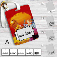 The Lion King Characters Disney Custom Leather Luggage Tag