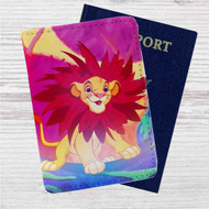 Simba The Lion King Custom Leather Passport Wallet Case Cover