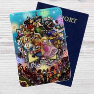 Super Mario Legend of Seven Stars Custom Leather Passport Wallet Case Cover