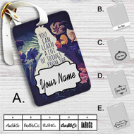 Alice in Wonderland Quotes Custom Leather Luggage Tag