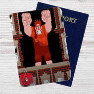 Wreck It Ralph Spaccatutto Custom Leather Passport Wallet Case Cover