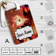 Fate Zero Stay Night Saber With Armors Custom Leather Luggage Tag