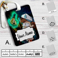Gravity Falls Bill Cipher and Bipper Custom Leather Luggage Tag
