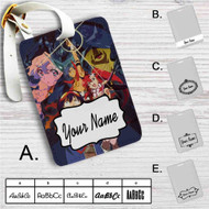 Gurren Lagann Simon Yoko Kamina Custom Leather Luggage Tag