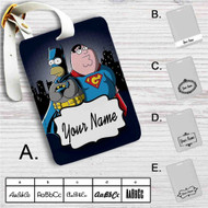 Homer Simpson Vs Peter Griffin Custom Leather Luggage Tag