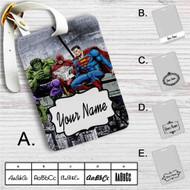 Hulk The Flash Superman Venom Breakfast Custom Leather Luggage Tag
