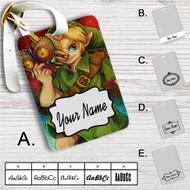 Link The Legend of Zelda Majoras Mask Custom Leather Luggage Tag