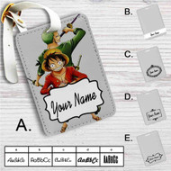 Luffy and Zoro One Piece Custom Leather Luggage Tag