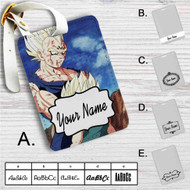 Majin Vegeta and Trunks Dragon Ball Z Custom Leather Luggage Tag