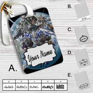 Mobile Suit Gundam 00 Custom Leather Luggage Tag