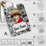 One Piece Luffy Custom Leather Luggage Tag