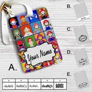 Super Mario No Face Custom Leather Luggage Tag