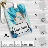 Super Saiyan Blue Vegeta Dragon Ball Super Custom Leather Luggage Tag
