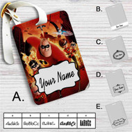 The Incredibles Custom Leather Luggage Tag