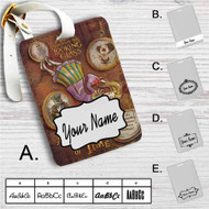 Alice Through the Looking Glass A Matter of Time Custom Leather Luggage Tag