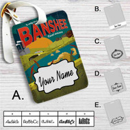 Banshee Custom Leather Luggage Tag
