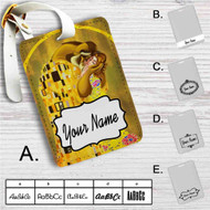 Disney Beauty And The Beast Gustav Klimt Custom Leather Luggage Tag